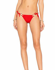 For Love And Lemons Mallorca Ring Bow Botton in Ferrari Red Size M