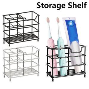 Stainless Steel Bathroom Toothbrush Holder Metal Rack Stand Storage Toothpaste