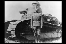 1918 General George Patton Tank PHOTO World War 1, United States Army, FRANCE