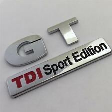 GT TDI SPORT EDITION Badge Emblem NEW For VW Golf Rear Boot MK4 MK5 MK6