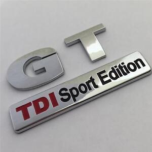 GT TDI SPORT EDITION Badge Emblem NEW For VW Golf Rear Boot MK4 MK5 MK6