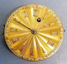Sehr alter Schlüssel Taschenuhr Spindel Uhrwerk Zifferblatt 18K 750 Gold c 1800