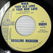 ROSALIND MADISON doowop PROMO 45 WHEN YOUR OLD LOVE IS YOUR NEW LOVE e8352