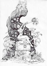 original painting А4 18KY art by samovar ink art 2020 Paper: Paper 70 g