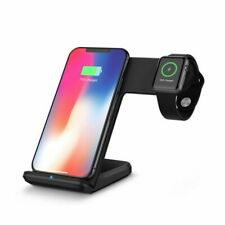 Qi Wireless Charger Fast Charge Stand For Apple iWatch 3 2 iPhone X XR XS Max Kj