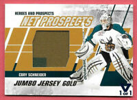 2015-16 Cory Schneider ITG Final Vault 2010-11 Heroes and Prospects Jersey 1/1