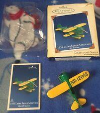 Hallmark 1931 Laird Super Solution Tree Ornament Sky's the Limit Airplaine 9th