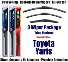 3-Pack Wipers Front & Rear NeoForm fits 2016+ Toyota Yaris - 16220/170/12A