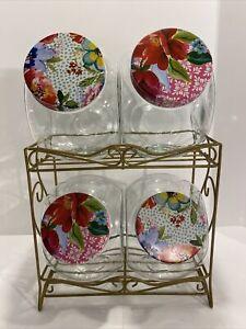 Pioneer Woman Jars Floral Medley Storage Metal Rack