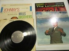 Lot-4 vint 33 rpm.1950-70's -Mills Bros -Mario Lanza- Johnny Mathis- Limeliters