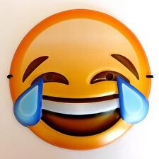 CRYING LAUGHING LAUGHTER EMOJI FACE MASK - KIDS ADULTS SMILEY FANCY DRESS GIFT