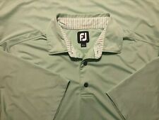 Footjoy Fj mens medium polo golf shirts Green 88% Polyester 12% Spandex