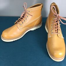 Ramrods Tan Faux Leather Mens Work Boots sz 8.5 90511 Vegan Used