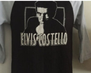 Vintage Elvis Costello Jersey Style T-Shirt Great Condition