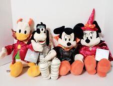Disney Parks Mickey & Minnie Mouse Goofy & Donald Plush Halloween 2018 Set