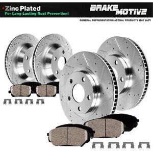 Front+Rear Drill Slot Brake Rotors Ceramic Pads For 2019 Ram Promaster 2500 3500