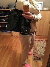 Authentic CHANEL Women's Black Leather/Pony Fur Handbag