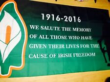 Easter Rising Freedom Flag - 5 x 3' Irish Republican Rebel 1916 Lily Centenary