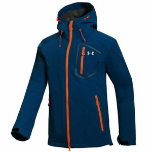 Under Armour Outdoor Mens Jacket Sport Waterproof Soft Shell Hooded Hiking Coat