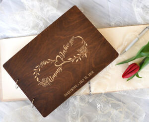 Wedding Guest Book Infinity Guestbook Personalized Rustic Guestook Wedding Gift