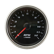 Tachometer Motorcycle Indicator Gauge Black Face Electrical 60 mm LED Lights