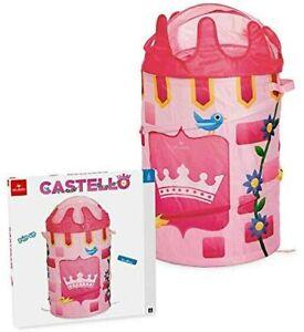 Cesta Contenitore Porta Giochi Castello Pop Up Torre Medievale Cameretta