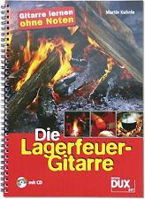 Die Lagerfeuer-Gitarre (+CD)-Gitarre lernen ohne Noten (mit Griffbildern) +Plec