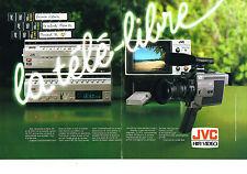 PUBLICITE  1983   JVC  HI-FI VIDEO    magnétoscope  téléciseur  cassettes (2 pag