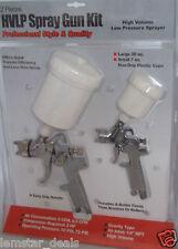 New Buffalo Tools 2 Piece Hvlp Spray Paint Gun Kit High Volume Low Pressure