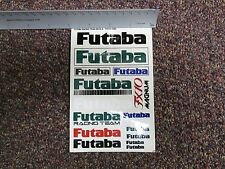 VINTAGE FUTABA DECAL SHEET PARTIAL LARGE RC10 RC12L