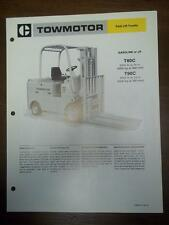 Caterpillar Lift Truck Brochure~T80C/T90C Fork Lift~Specifications/Data Sheet