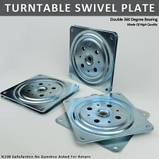 "NEW 6"" Double Swivel Bearing Turntable Plates Table Top Lazy Susan 150 mm Square"