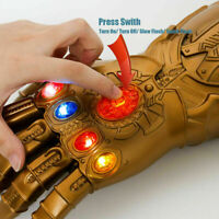US Thanos Infinity Gauntlet LED Glove Cosplay Avengers Removable Infinity Stone