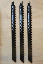 "(3) Hitachi 12"" x 3/4"" 3 TPI Carbide Tipped High Speed Reciprocating Saw Blade"