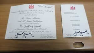 Dinner Invitation/Menu From The Prime Minister 1978 - Signed by Geoffrey Boycott