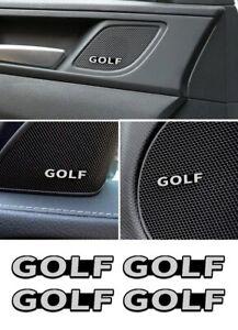 Set 4 Stemma Logo Emblema Fregio Badge Adesivo VW GOLF 1 2 3 4 5 6 7 8 Alluminio