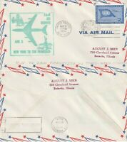 US 1959 JET AM 2 FIRST FLIGHT FLOWN COVER NEW YORK NY TO SAN FRANCISCO CALIF