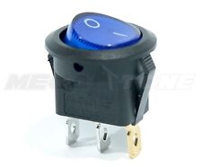 Spst 3 Pin Onoff Round Rocker Switch With Blue Neon Lamp 10a125vac Usa Seller