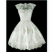Women Lace Prom Floral Formal Evening Cocktail Party Bridesmaids Gown Mini Dress