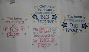 I've been promoted to Big Brother / Sister T-shirt can be personalised