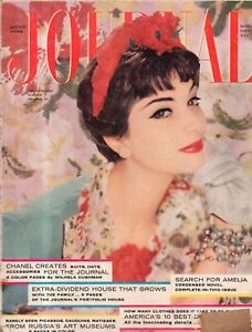 1958 Ladies Home Journal March - How neurotic are you? Chanel creations; Addicts