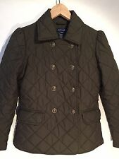 RALPH LAUREN Kids Girls Quilted Jacket Olive Army Green Size L 12/14