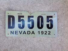 1922 NEVADA - DEALER - LICENSE PLATE - RESTORED - REPAINTED