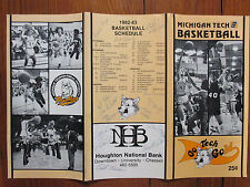 1983 Michigan Tech Men's Basketball Program(13 Signed/w/DAVE LESHOK/FRANK GAJOR)
