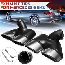 2X Edelstahl Endrohre Blenden Auspuff Abdeckung Auspuffblende Für Benz W211 E500