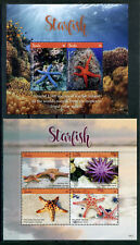 2018 Tuvalu, marine life, starfish, S/sheet + sheet, MNH