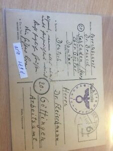 Germany Reich Feldpost Baden to Gottingen 8.9.1945 postcard