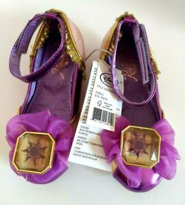 Disney Tangled Princess Rapunzel Girls 9/10 Costume Dress Purple Shoes w Tags