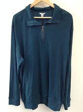 Calvin Klein Xxl 2xl Sweater Mens Half Zipper Logo Cotton Nwt Flag Blue (198)
