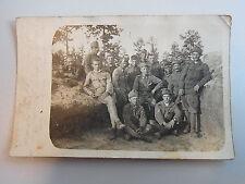 Feldpost Privatfoto 1917  k.k. Schützenregiment Nr. 11: Soldaten SCHÜTZENGRABEN